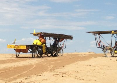Czech Solar Team in the kazakh desert