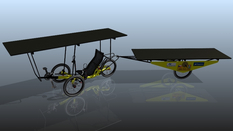 solar powered electric trike AZUB TRIcon 20
