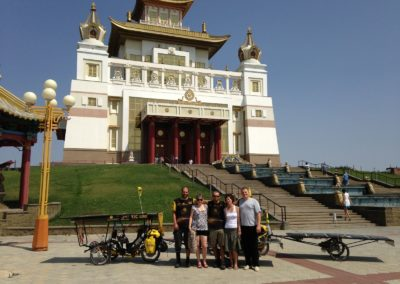 The biggest european buddhist temple in Elista, Russia