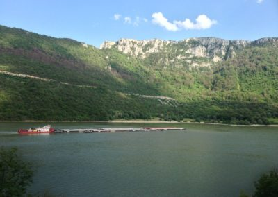 The Iron gate dam on the Danube river between Romania and Bulgaria